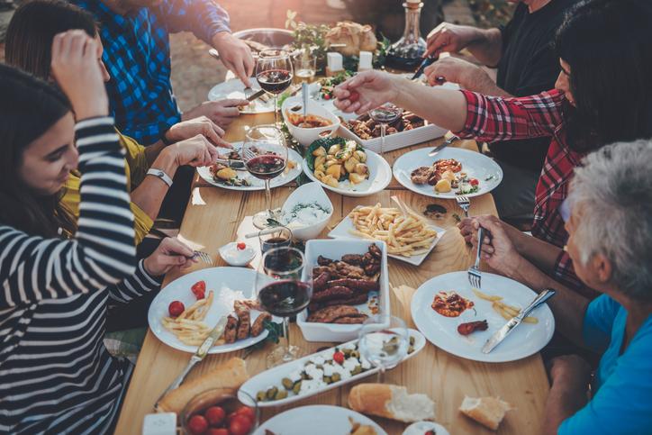 Essen mit der Familie